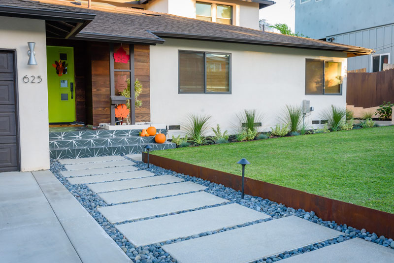 An image of a recent completed landscape project